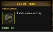 Khaki skullcap