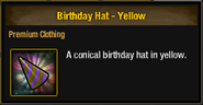 Tlsdz birthday hat yellow