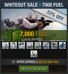 Whiteout Sale - 7000 fuel