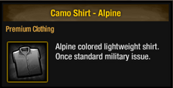 Camo shirt alpine