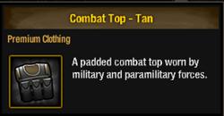 Combat top-tan
