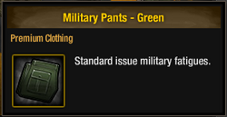 Military Pants - Green