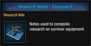Research-note-equipment