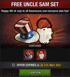 Tlsdz free uncle sam set package 2015