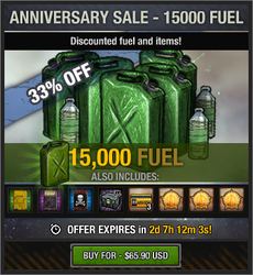 Anniversary Sale - 15000 Fuel - 2018