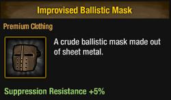 Improvvised ballistic mask