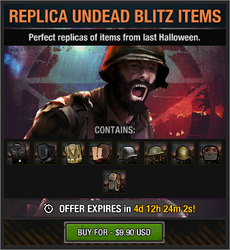 Replica Undead Blitz Items package