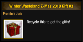 Winter Wasteland Z-Mas 2018 Gift 3