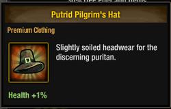 Tlsdz putrid pilgrim's hat