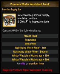 Premium Winter Wasteland Trunk Items