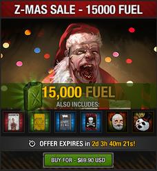 Tlsdz z-mas fuel sale 15000 fuel 2014