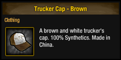 Trucker cap-brown