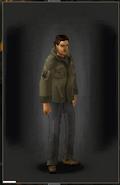 Military Shirt - Khaki equipped male
