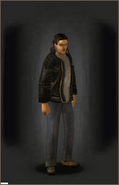 Leather Jacket - Black - equipped male