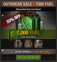 Outbreak Sale - 7000 Fuel