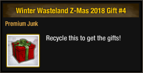 Winter Wasteland Z-Mas 2018 Gift 4