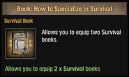 How to Specialize in Survival
