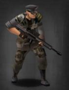 Survivor with M107-CQ