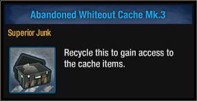 Abandoned Whiteout Cache Mk 3