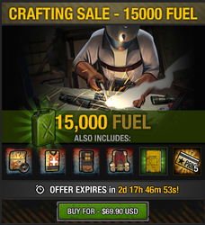 Tlsdz crafting sale - 15000 fuel
