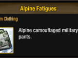 Alpine Fatigues