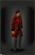 Leather Trenchcoat - Red equipped female