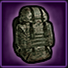 Military backpack icon