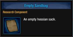Empty sandbag
