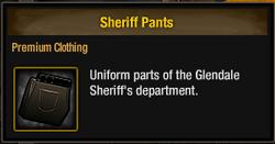 Sheriff Pants