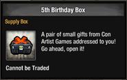 5th Birthday Box