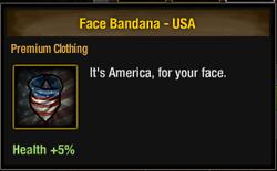 Tlsdz face bandana usa