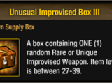 Unusual Improvised Box