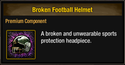 Tlsdz broken football helmet