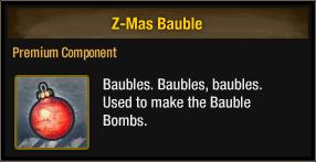 Z-Mas Bauble 2017