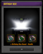 Tlsdz opened 3rd birthday box