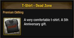 T-Shirt - Dead Zone