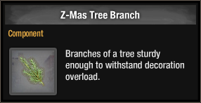 Z-Mas Tree Branch 2018