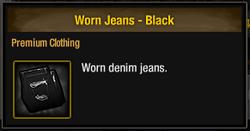 Worn Jeans - Black