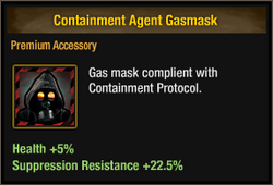Containment Agent Gasmask