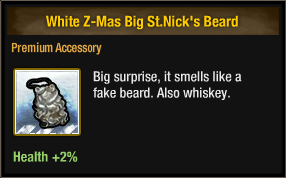 White Z-Mas Big St Nick's Beard