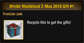 Winter Wasteland Z-Mas 2018 Gift 1