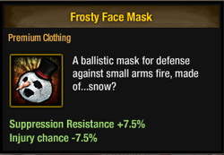 Tlsdz frosty face mask
