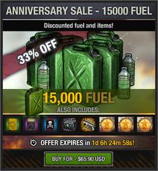 7th Anniversary Sale - 15000 Fuel