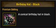 Tlsdz birthday hat black