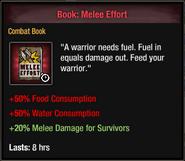 Melee effort Temp