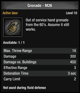Grenade - M26