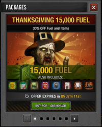 Tlsdz thanksgiving 15000 fuel