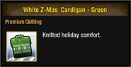 White Z-Mas Cardigan - Green