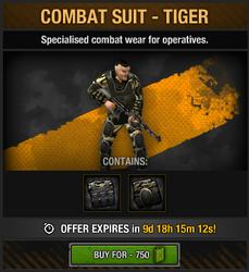 Combat Suit - Tiger