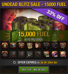Undead Blitz Sale - 15000 Fuel